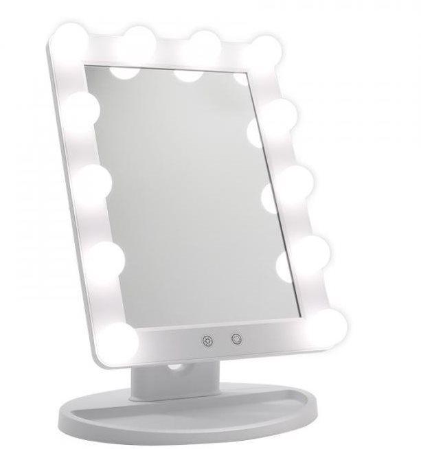 iMirror Hollywood kozmetikai Make-Up tükör LED világítással, fehér