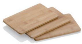 Kela KATANA bambuszfa vágódeszka 22 × 14 × 1 cm 3-as szett
