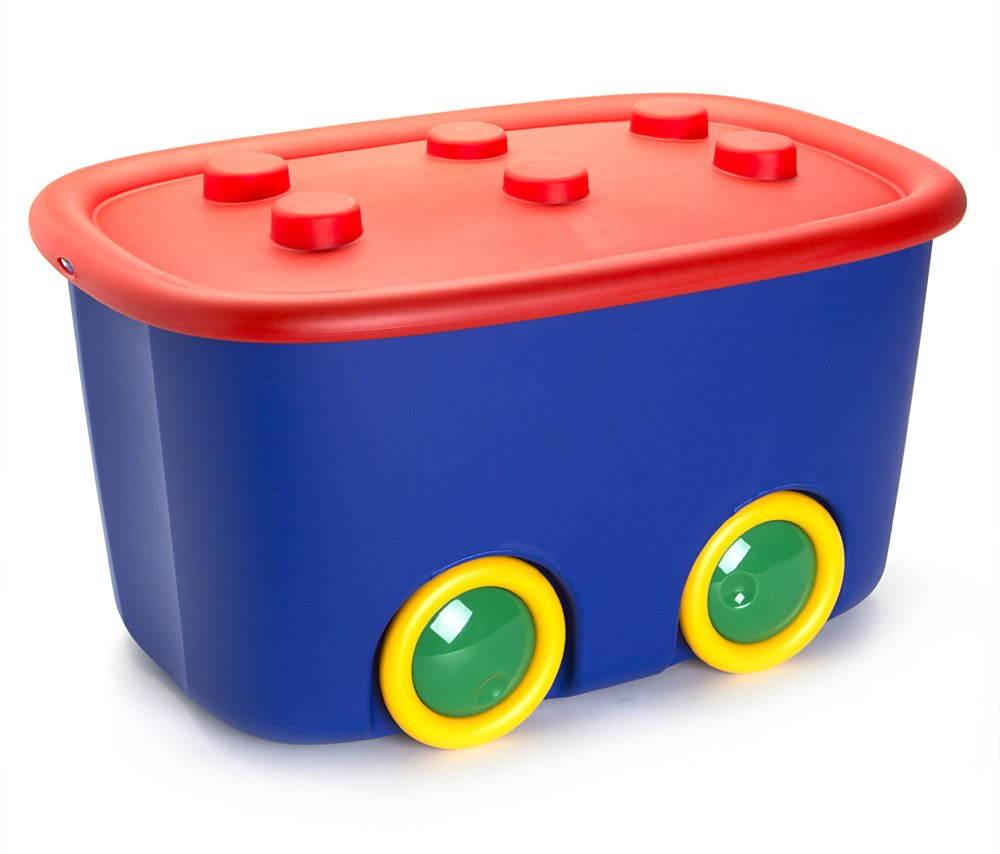 KIS Funny box L piros/kék 46 l