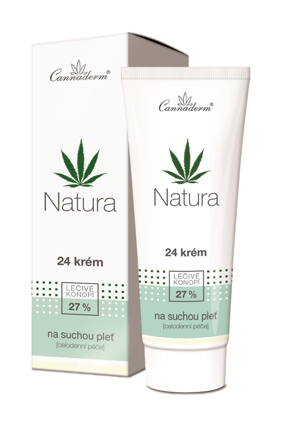 CANNADERM Natura 24 Krém száraz és érzékeny bőrre 75 g
