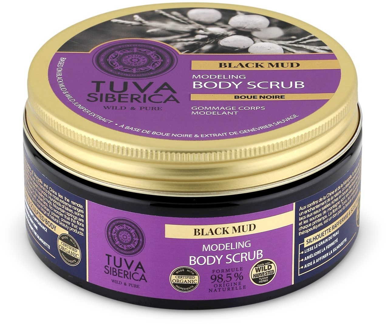 NATURA SIBERICA Tuva Siberica Black Mud Modeling Body Scrub 300 ml