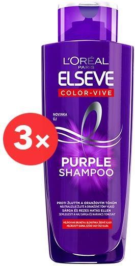 ĽORÉAL PARIS Elseve Color Vive Purple Shampoo 3 × 200 ml