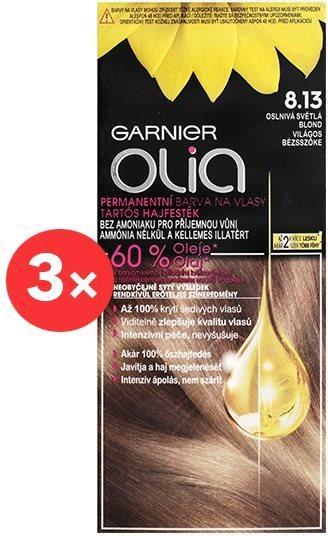 GARNIER Olia 8.13 Világos bézsszőke 3 × 50 ml