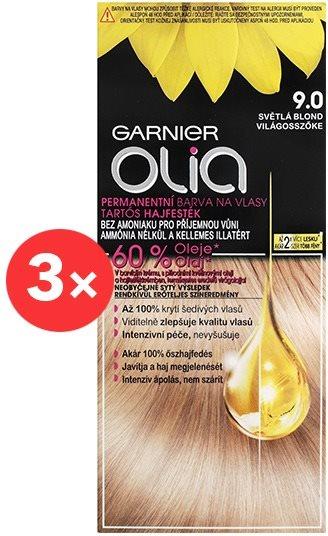 GARNIER Olia 9.0 Világosszőke 3 × 50 ml
