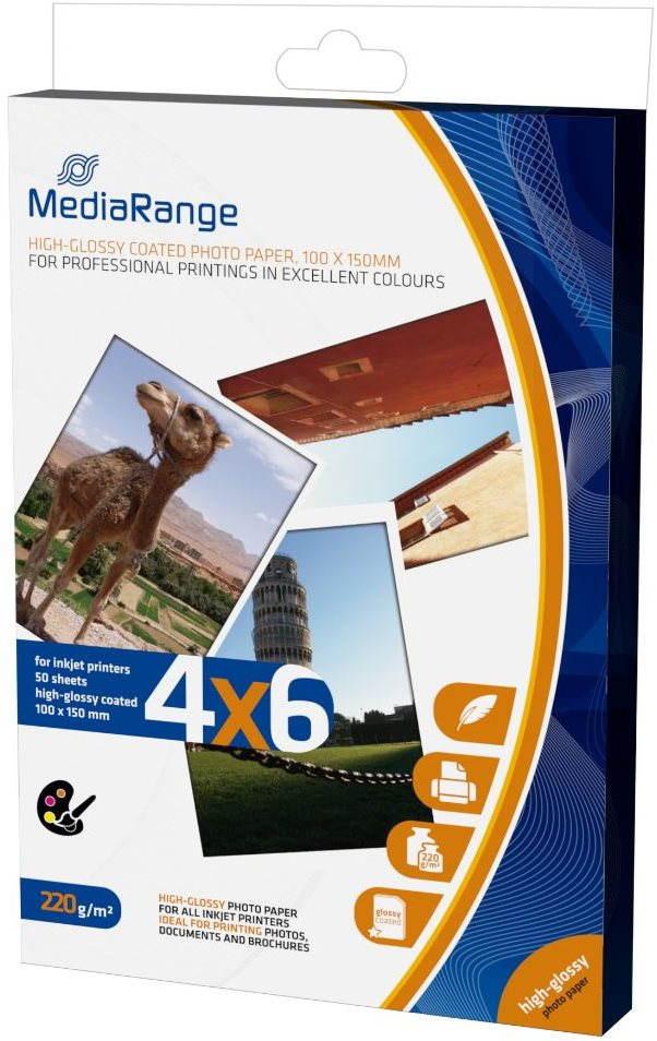 MEDIARANGE fotópapír 10x15 50 darab, fényes