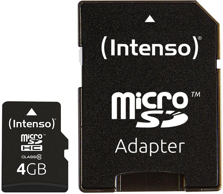 Intenso Micro SD Card Class 10 4GB