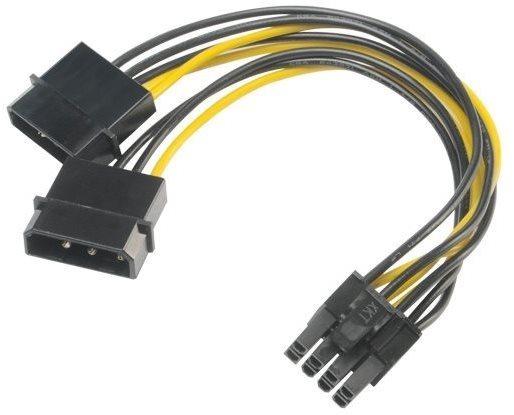 AKASA adapter - 4-tűs Molex-ről 8-tűs PCIe-re