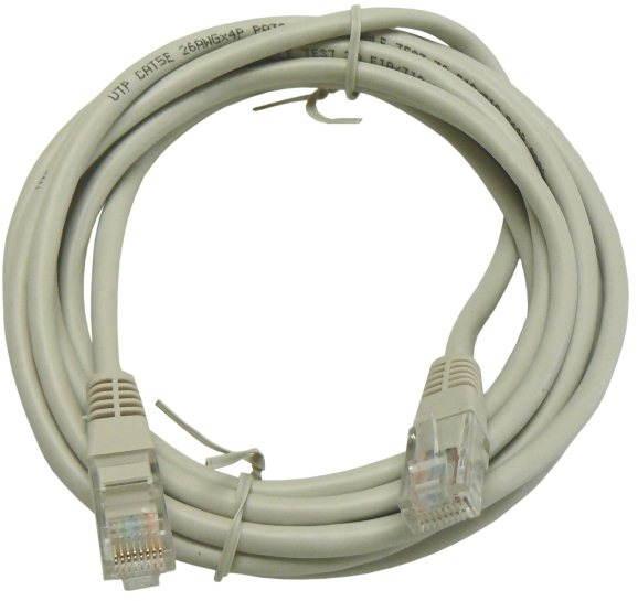 Adatátviteli kábel, CAT6, UTP, 3m, szürke