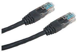 Adatátviteli kábel, CAT6, UTP, 3m, fekete