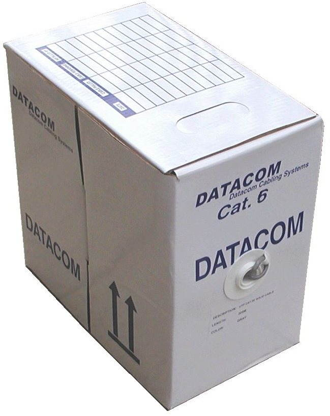 Datacom, wire, CAT6, FTP, LSOH, 305m/tekercs