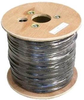 Adatátviteli hálózati kábel, drót, CAT6, UTP, PE, kültéri 500 m/tekercs