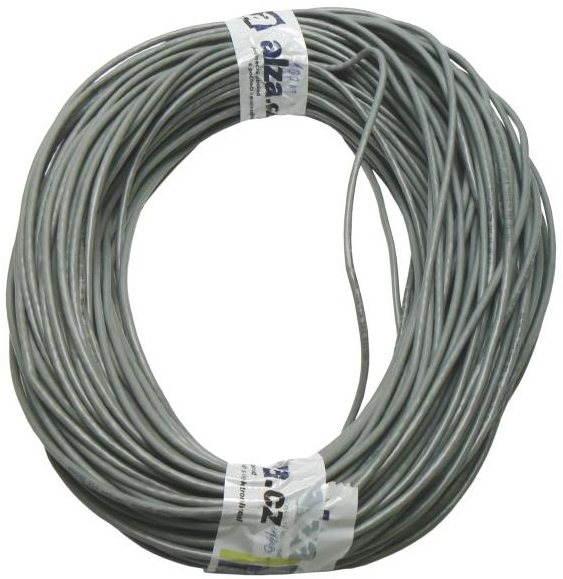 Adatátviteli hálózati kábel, sodrott, CAT6, UTP, 100 m