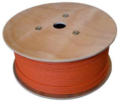 Adatátvitel, kábel, CAT7, LSOH, S / FTP, narancssárga köpeny, 500m / doboz