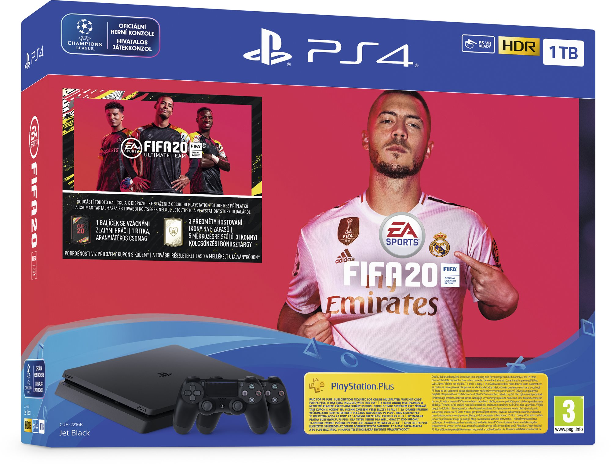 PlayStation 4 Slim 1TB + FIFA 20 + 2x DS4 vezérlő