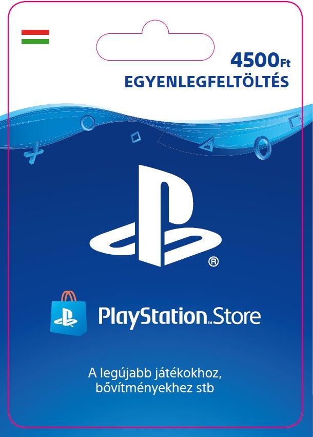 PlayStation Store - 4500 forintos feltöltőkártya - HU digitális