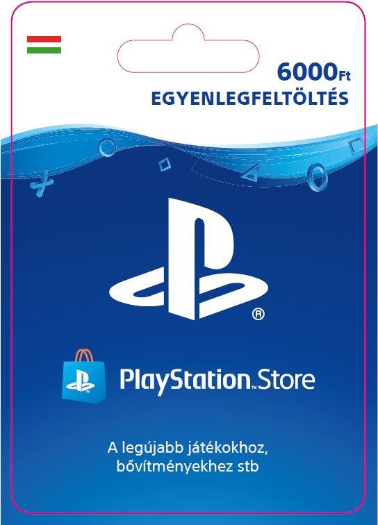 PlayStation Store - 6000 forintos feltöltőkártya - HU digitális
