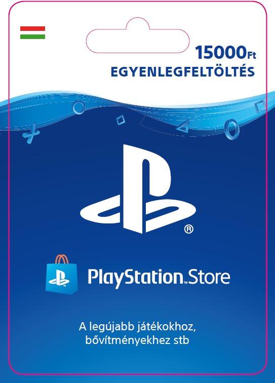 PlayStation Store - 15000 forintos feltöltőkártya - HU digitális
