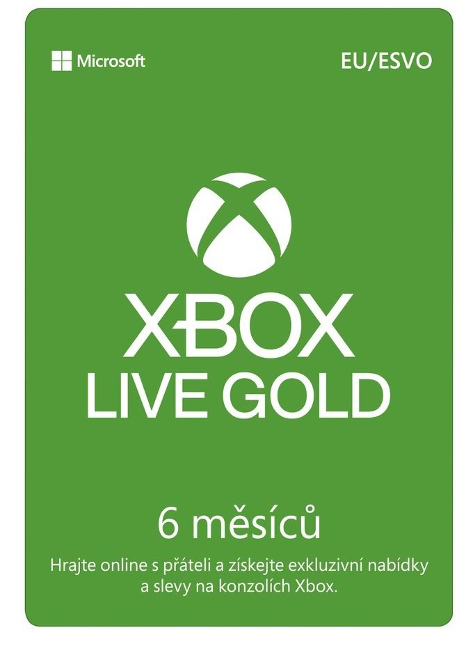 Xbox Live Gold - 6 hónapos tagság