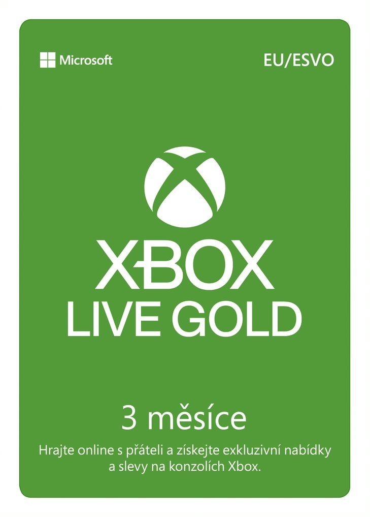 Xbox Live Gold - 3 hónapos előfizetés
