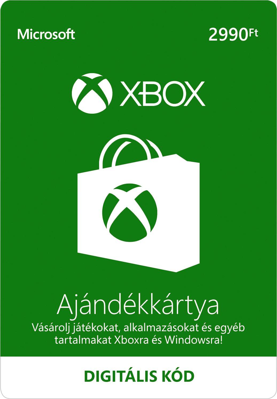 Xbox Live ajándék kártya 2990Ft
