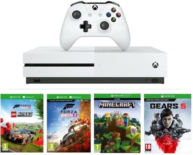 Xbox One S 1TB + Lego Forza Horizon 4 + Gears 5 + Minecraft