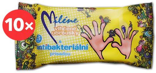 MILLENNE antibakteriális törlőkendők 10 × 15 db