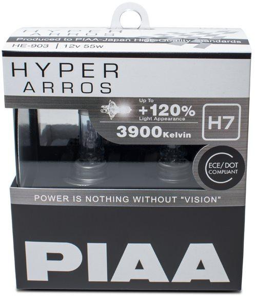 PIAA Hyper Arros 3900K H7 - 120 százalékkal fényesebb, megnövelt világosság