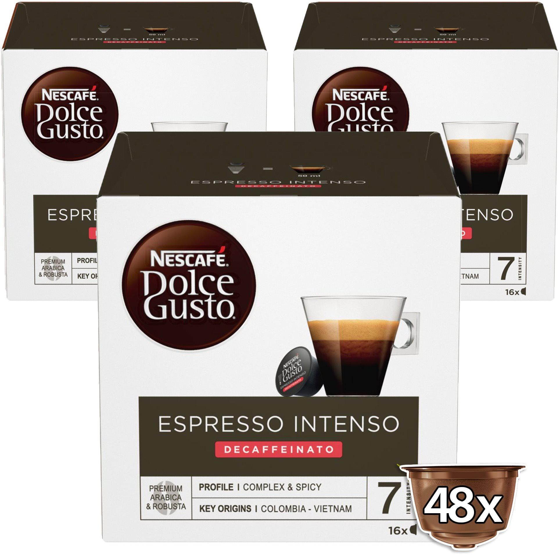 NESCAFÉ Dolce Gusto Espresso Intenso Decaffeinato, 3 csomag