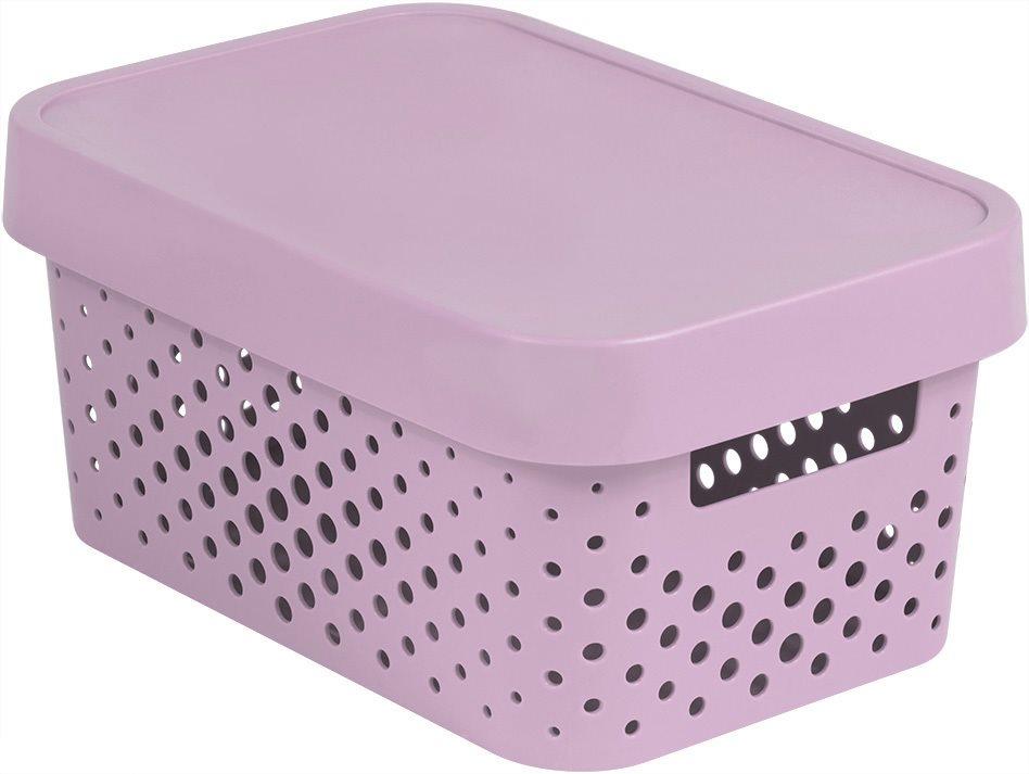 Curver INFINITY DOTS doboz, 4,5L - rózsaszín