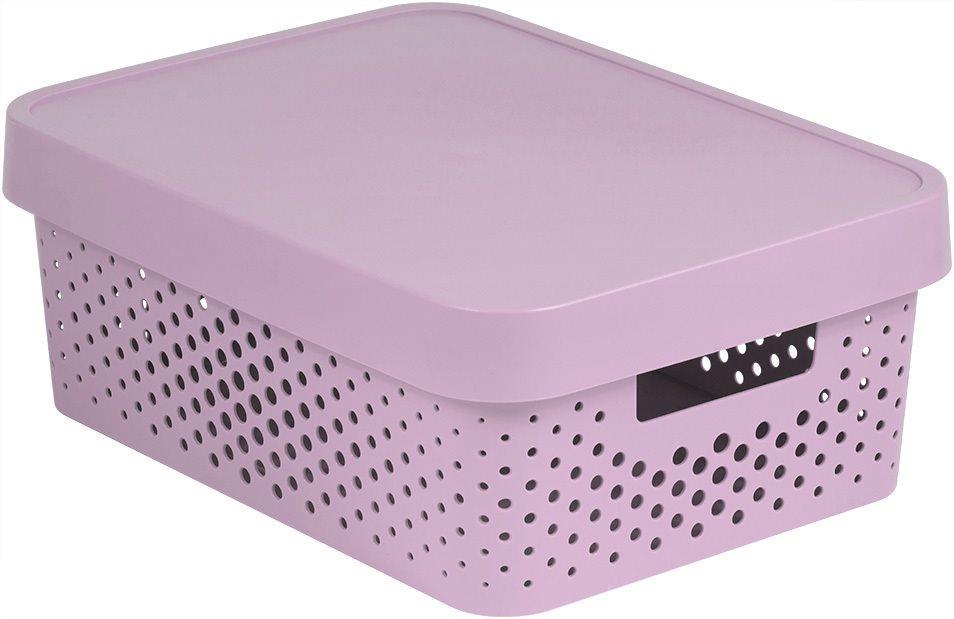 Curver INFINITY DOTS box 11L - rózsaszín