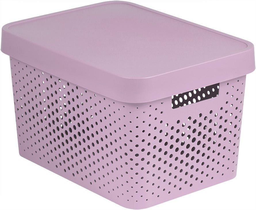 Curver INFINITY DOTS doboz 17L - rózsaszín