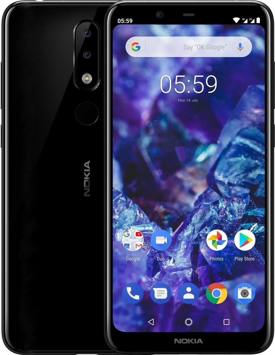 Nokia 5.1 Plus, fekete