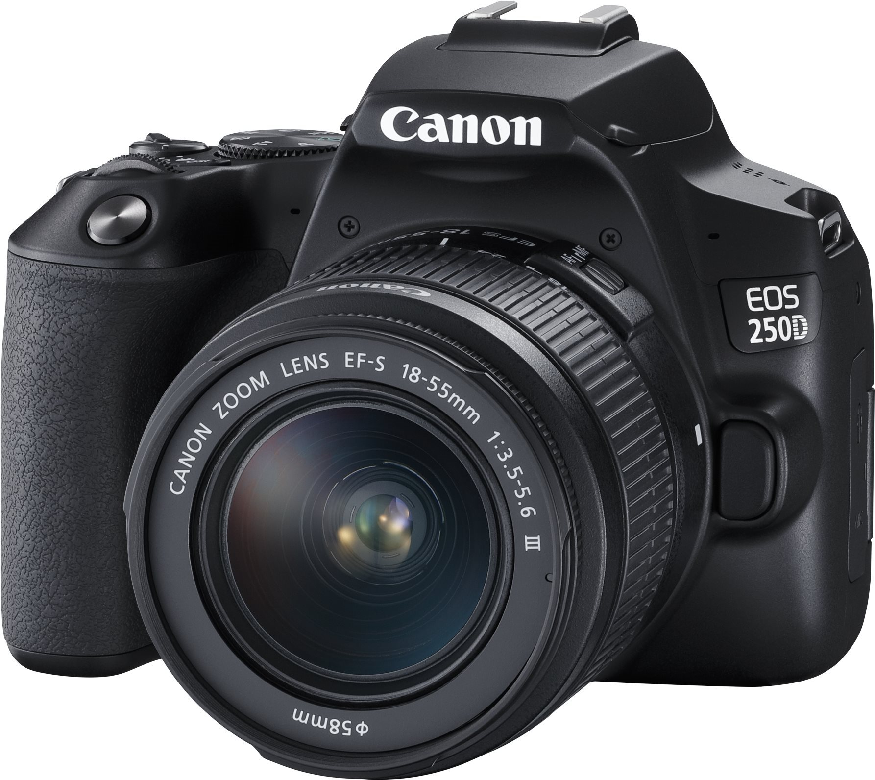 Canon EOS 250D, fekete + 18-55mm DC III