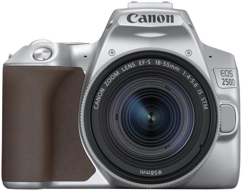 Canon EOS 250D, ezüst + 18-55mm IS STM