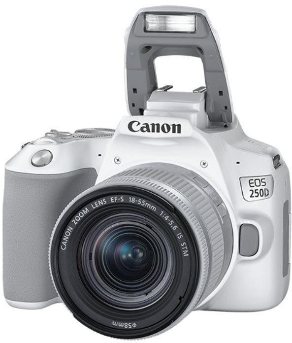 Canon EOS 250D, fehér + 18-55mm IS STM