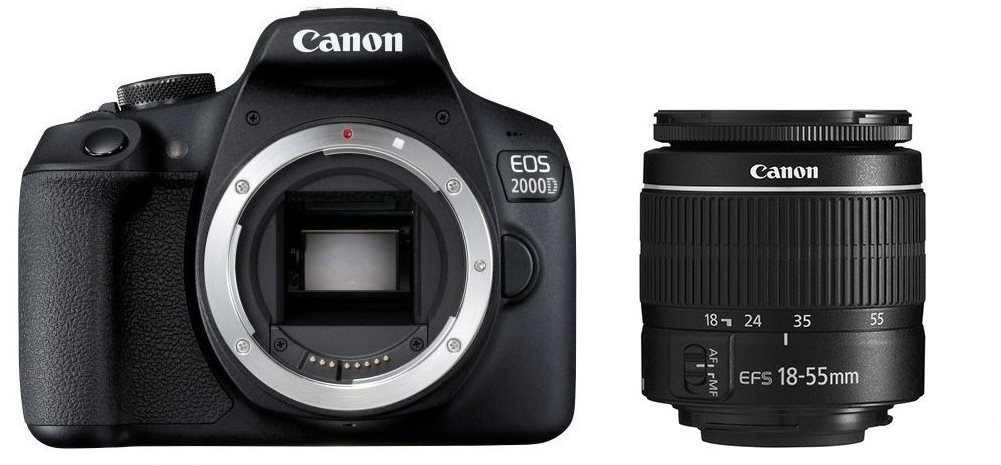 Canon EOS 2000D + 18-55 mm DC III