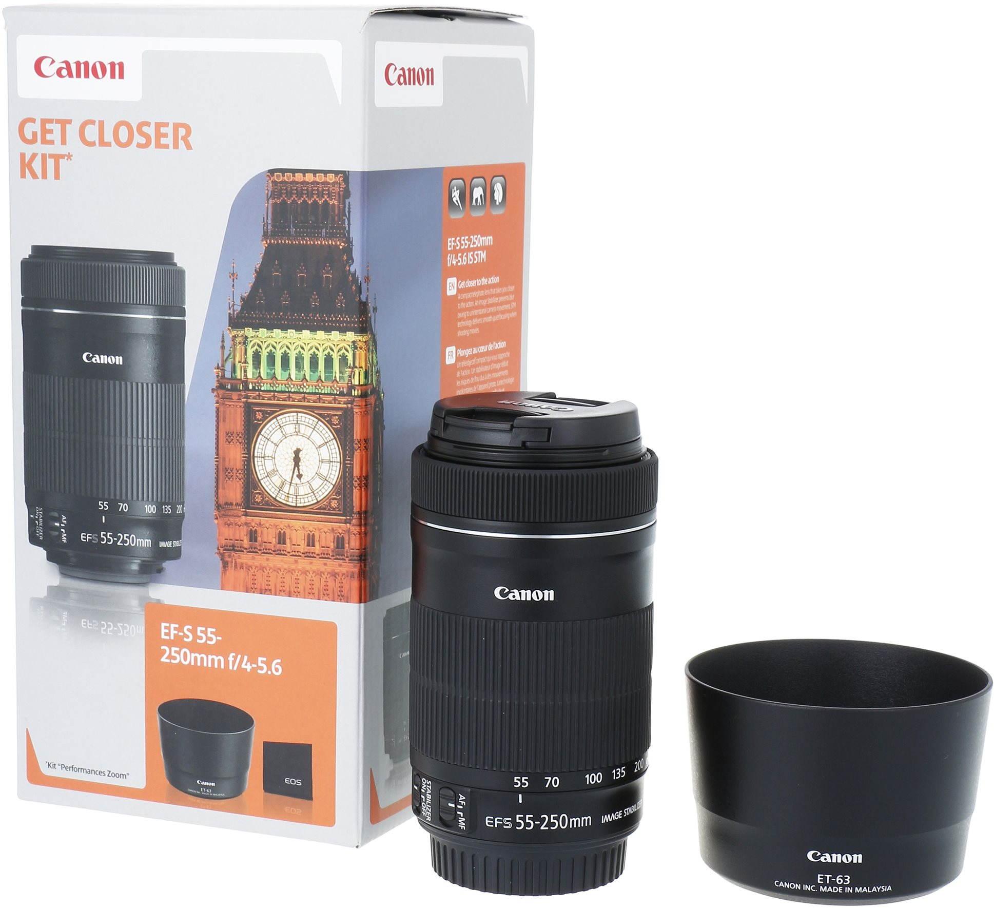Canon EF-S 55-250mm F4.0 - 5.6 IS STM + ET-63