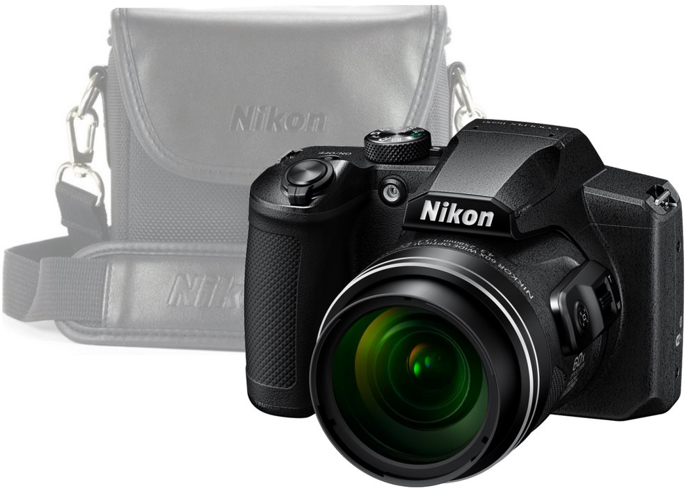 Nikon COOLPIX B600, fekete + tok