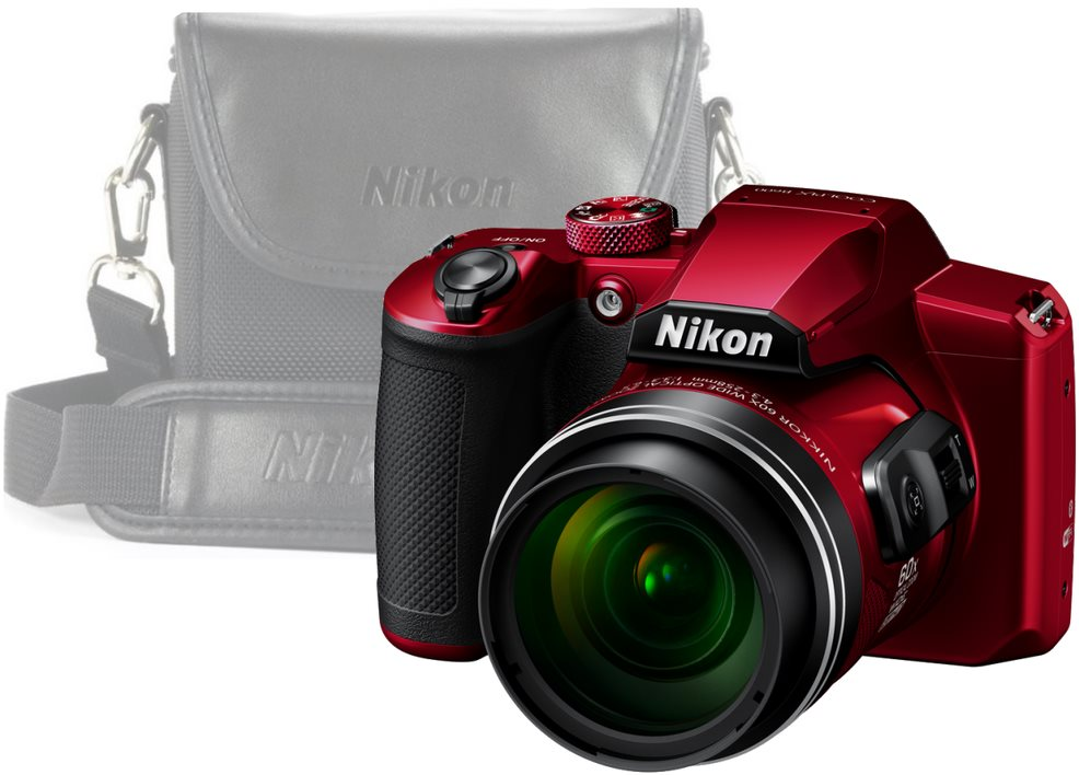 Nikon COOLPIX B600, piros + tok