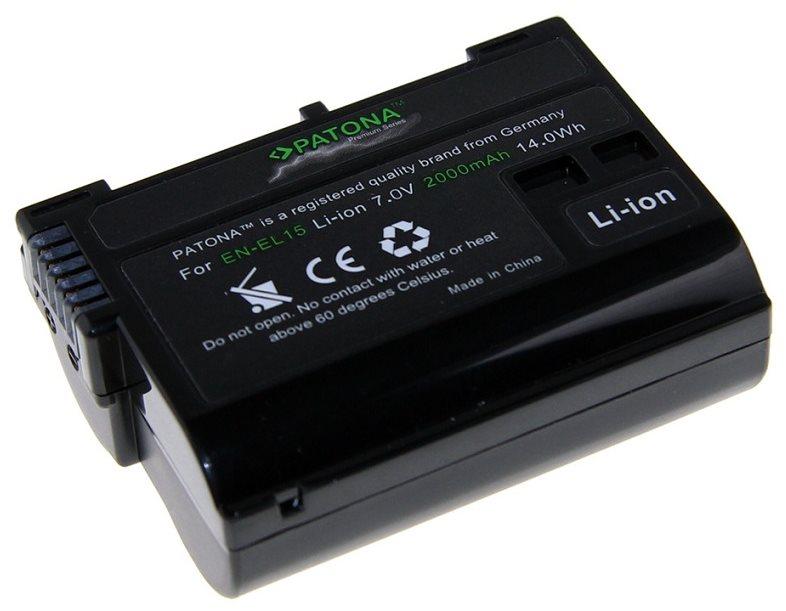 PATONA a Nikon EN-EL15 2000mAh Li-Ion prémiumhoz