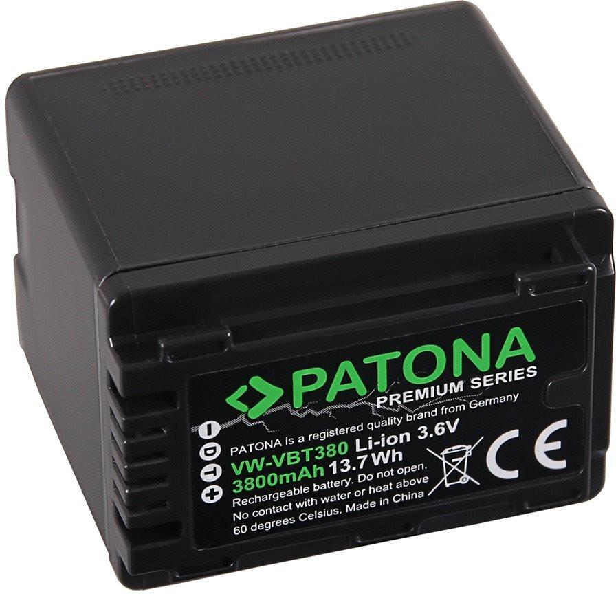 PATONA VW-VBT380 4040 mAh Li-Ion Premium akkumulátor Panasonic kamerákhoz