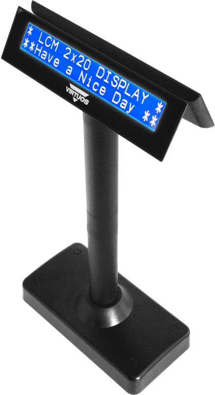 Virtuos LCD FL-730MB 2x20, soros, fekete