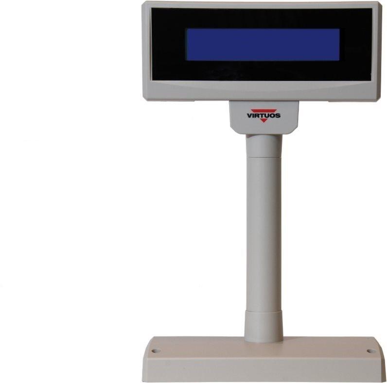 Virtuos LCD FL-2024LB 2x20, USB, 5 V, bézs