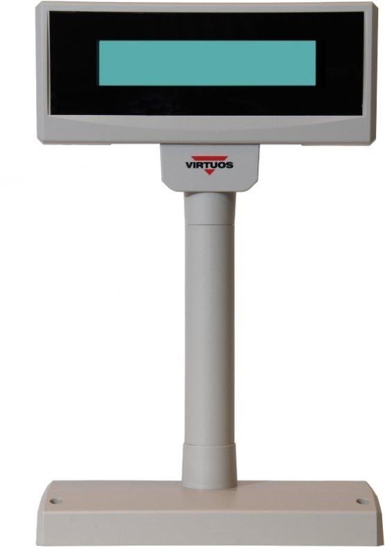 Virtuos LCD FL-2024LW 2x20, USB, 5 V, bézs