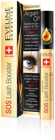 EVELINE Cosmetics SOS Lash Booster szérum 5in1 argánolaj 10 ml