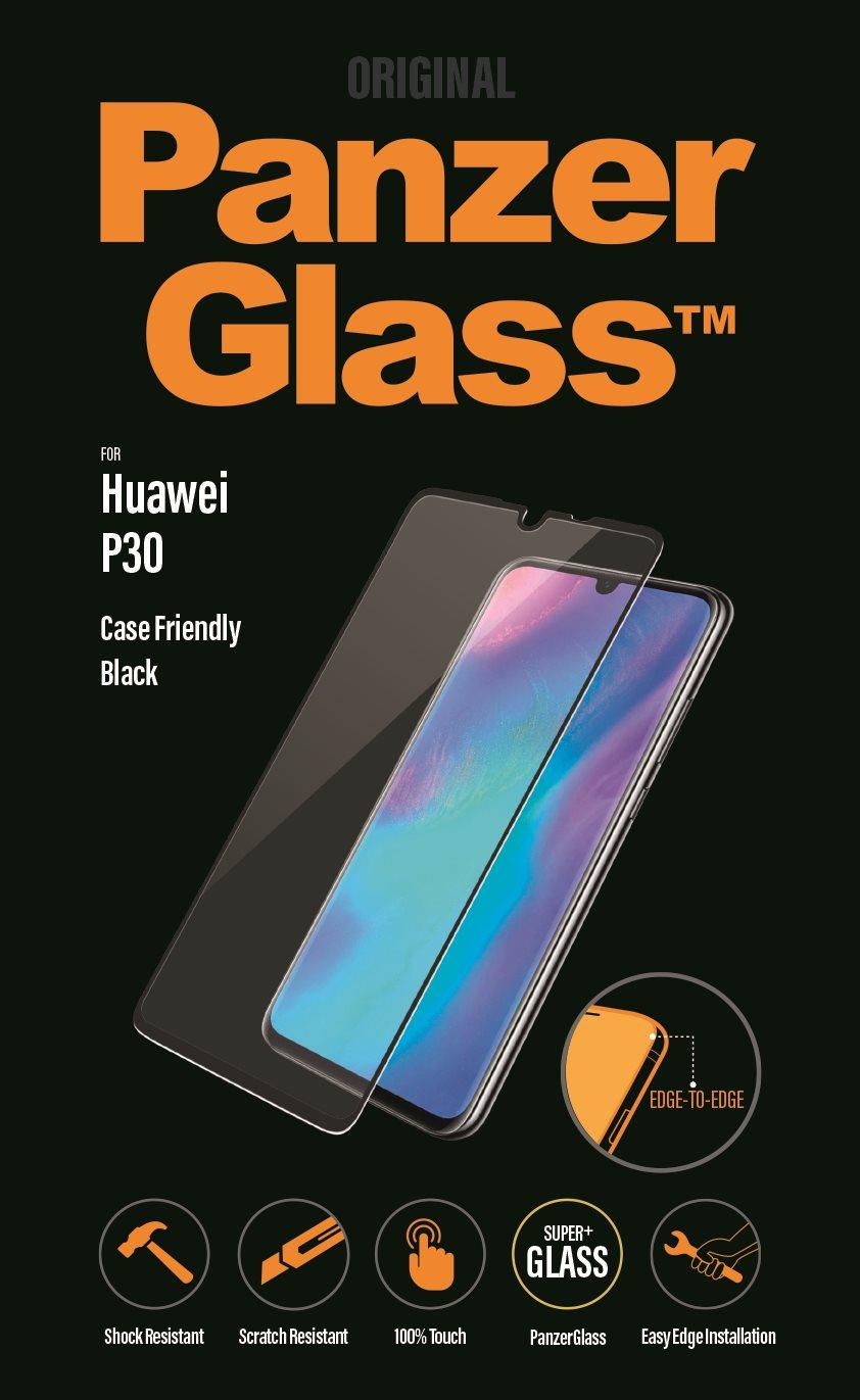 PanzerGlass Edge-to-Edge Huawei P30-hoz, fekete