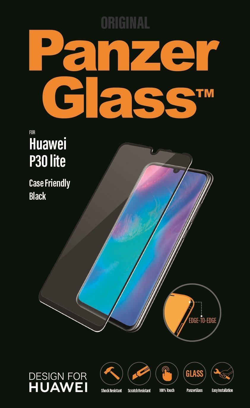 PanzerGlass Edge-to-Edge Huawei P30 lite-hoz, fekete