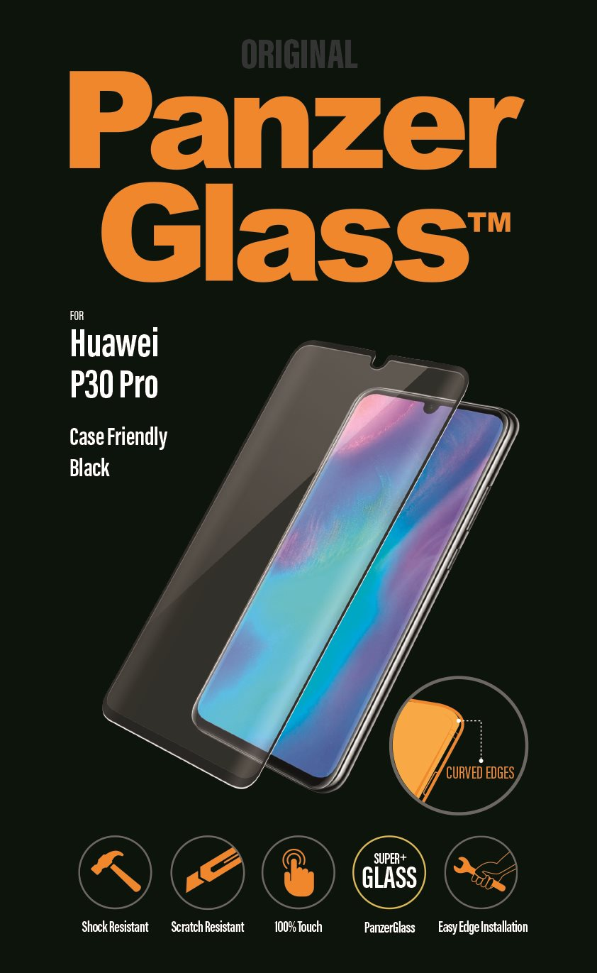 PanzerGlass Premium Huawei P30 Pro-hoz, fekete