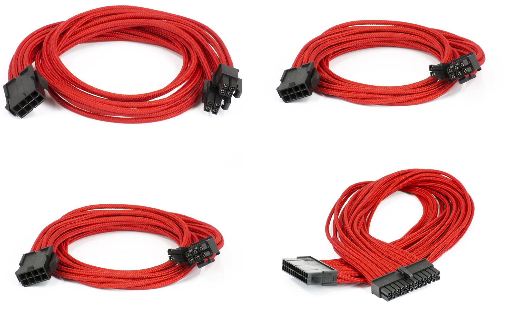Phanteks hosszabbító kábel szett - piros