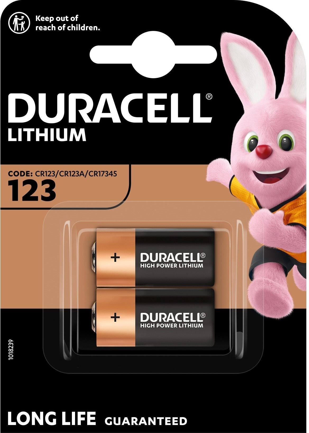 Duracell Ultra CR123A 2 db